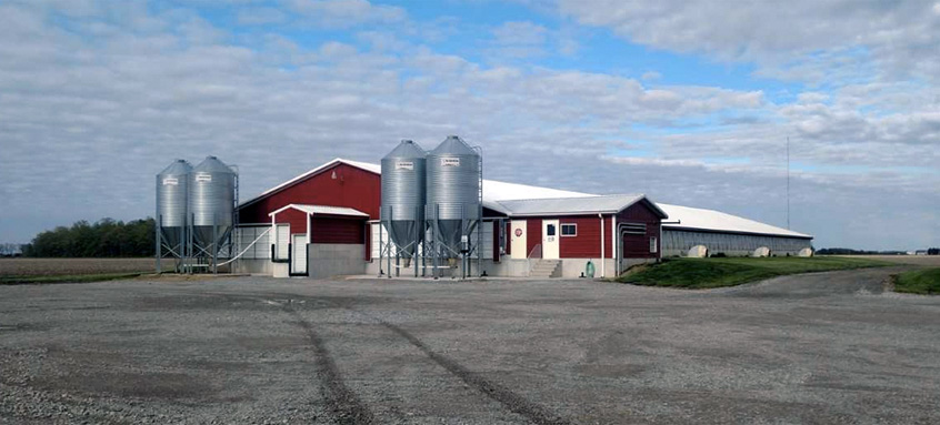 Here Is Where Farmers Store The Pig Feed Available All Day Buffet Style And Made Of Corn Soybean